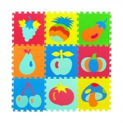 تشک بازی فومی طرح میوه ها مدل کفپوش تاتامی 9 تکه 33 در 33 سانتی زمین بازی