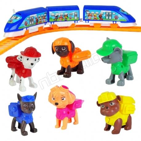 ست ترن قطار باطری خور سگهای نگهبان پاو پاترول PAW PATROL DOGS 866-11