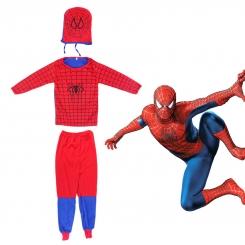 ست لباس و شلوار اسپایدر من با نقاب مدل راشا سایز مدیوم M مدل Spiderman