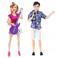 ست عروسک باربی مدل زن و شوهری خواننده و گیتاریست مدل استایل Barbie Style Fashion Show