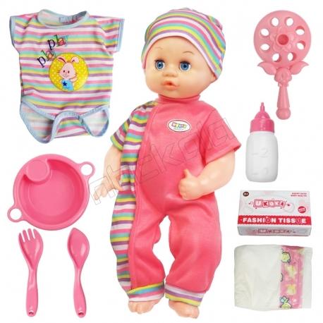عروسک موزیکال نوزاد یوکوکا مدل UKOKA BABY DOLL 8011-A