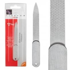 سوهان فلزی اف اند ال مدل کوتاه سری تیتانیوم F&L Titanum Series Pinzette Tweezers Nail file
