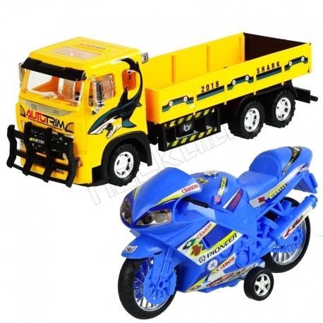کامیون باری و موتورمسابقه ای درج تویز 106