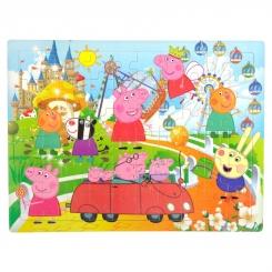پازل چوبی پپاپیگ 60 تکه 30 در 23 سانت Peppa Pig Puzzle