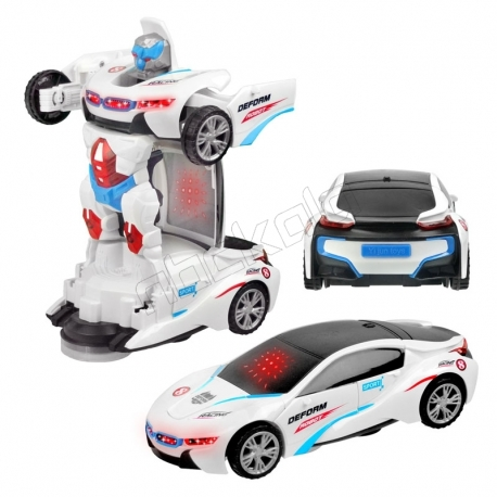 ماشین پلیس تبدیل شونده بی ام و BMW Police Car Transformer YIJUN YJ388-20