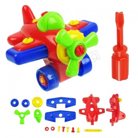 اسباب بازی ساختنی هواپیمای مکانیکی تکتاز ایر Tak Taz Toy Build & Play Airplane set ZA-2200