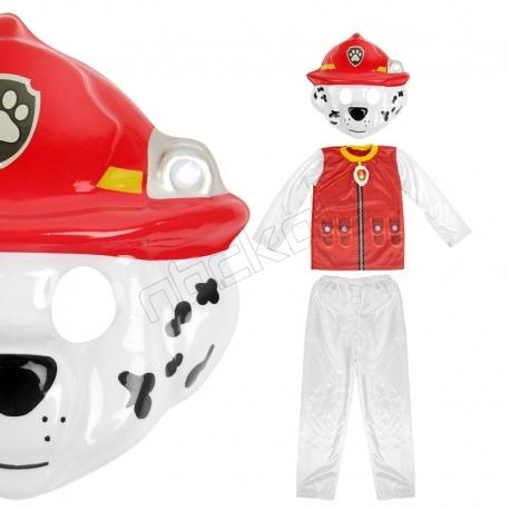 ست نقاب و لباس و شلوار سگهای نگهبان مدل مارشال آتش نشان سایز 5-6 سال Paw Patrol Marshall Children Costumes