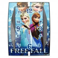 ساعت دیواری کودک طرح السا و آنا فروزن مدل مستطیل Frozen Elsa Anna Wall Clock