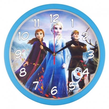 ساعت دیواری کودک طرح السا و آنا فروزن مدل گرد Frozen Elsa Anna Wall Clock