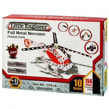سازه های ساختنی فلزی مکانو با 10 مدل مهندس کوچک LITTLE ENGINEER FULL METAL MECCANO NO 214-14