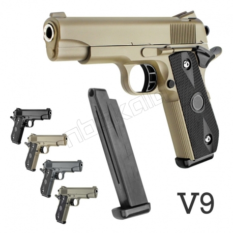 کلت فلزی ایر سافت گان ساچمه ای مدل AIRSOFT GUN V9