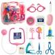 ست دکتری با 17 عدد ابزار پزشکی به همراه کیف بزرگ دستی پزشکی