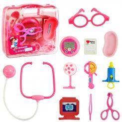 ست دکتری با 11 عدد ابزار پزشکی با کیف دستی پزشکی