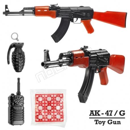 ست تفنگ کلاش مدل اتومات 8 تیر ترقه ای با بیسیم و نارنجک Golden Gun Automatic AK47G