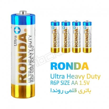 باتری قلمی روندا بسته 4 عددی مدل RONDA Ultra Heavy Duty R6P Size AA 1.5V