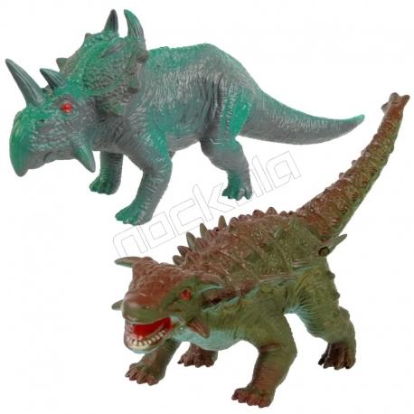 ست فیگور دایناسور پنتاسراتوپس و آنکیلوساروس PENTACERATOPS AND ANKYLOSAURUS NO234-21-22