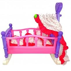 تخت خواب عروسک گهواره ای ژیونگ چنگ مدل Alive Baby 008-09